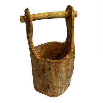 Teak Root Bucket approx 28cm