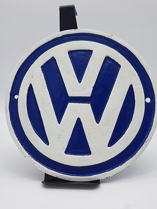 Blue & White VW Wall Plaque