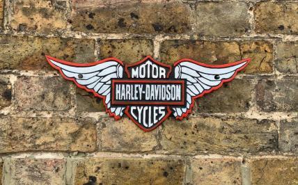 Harley Davidson Winged Plaque
