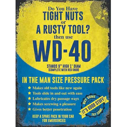 WD-40 Metal Wall Sign
