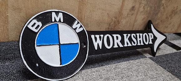 BMW Workshop Sign