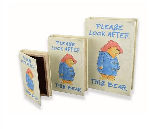 Bear Book Storage Set of 3