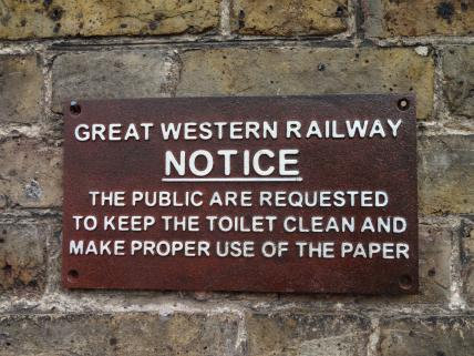 Reproduction Great Western Railway Sign