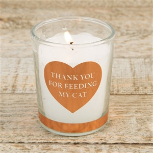 Thank you for feeding my cat candle