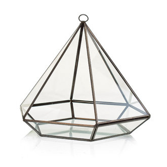 Large Glass Diamond Terrarium