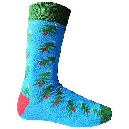 Ladies 'Oh Christmas Tree' bamboo socks size 4-7