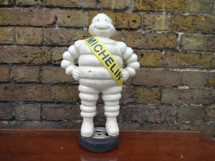 Reproduction Michelin Man on Tyre