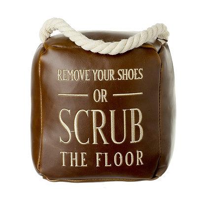 Scrub The Floor Doorstop
