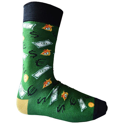 Men's 'It's all about the Money' bamboo socks size 6-11