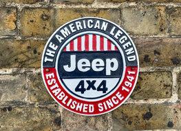 Cast Aluminium JEEP wall plaque