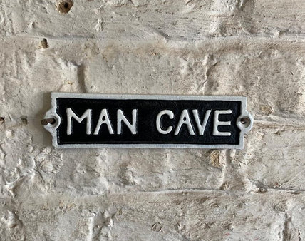 Man Cave Cast Iron Wall Plaque