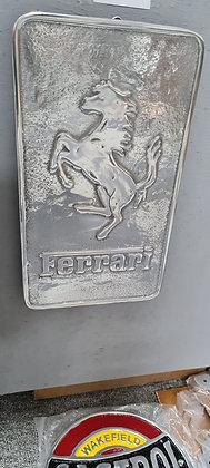 Cast Aluminium Ferrari Plaque