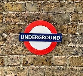 cast iron railway sign london undergroun