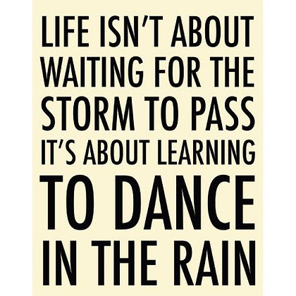Extra Large Dance In The Rain Metal Sign 40cm
