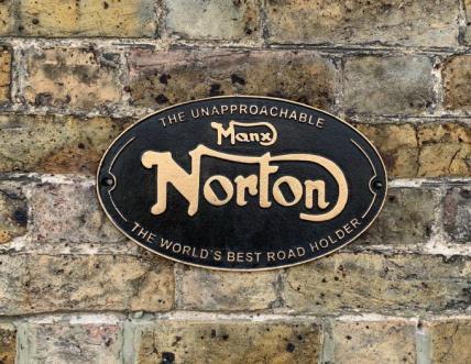 Manx Norton Sign