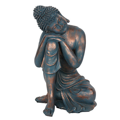 Blue Hands on Knee Buddha