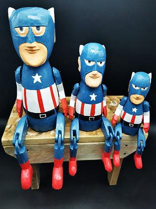 Captain Dude Wooden puppets