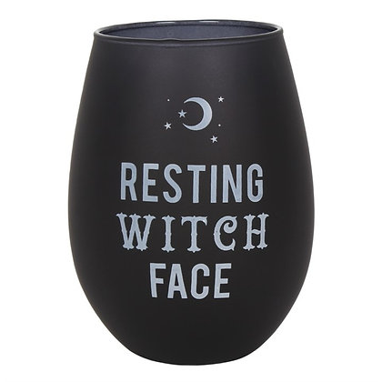Resting Witch Face Glass Tumbler