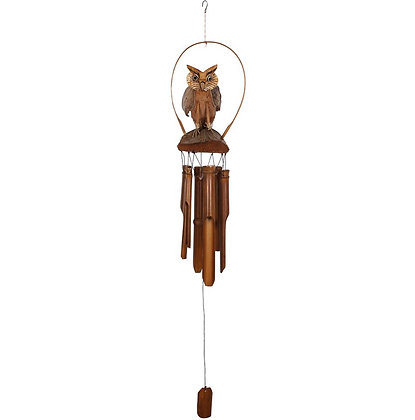 Coconut owl windchime