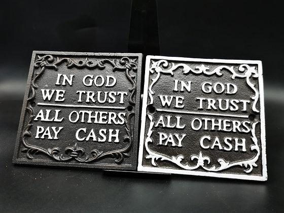In god we trust - black