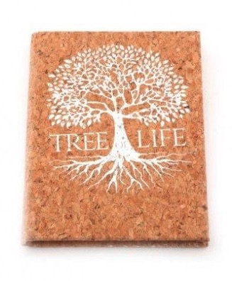 A6 Tree of Life Notebook - Cork