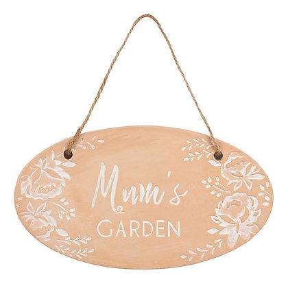 Mums Garden Terracotta Sign