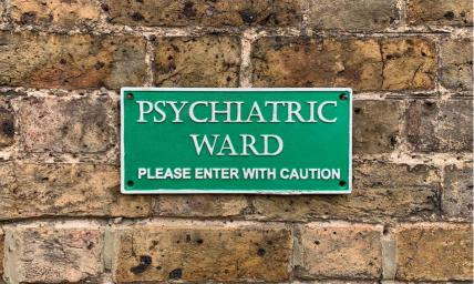 Cast Iron Psychiatric Ward Wall Plaque