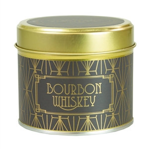 Happy Hour Candle In Tin Bourbon Whiskey