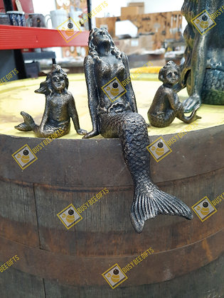 Small Cast Iron Mermaid - Set of 3