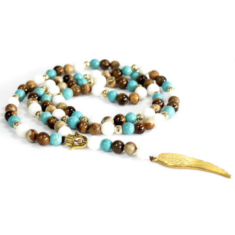 Angel Wings Multi Bead Necklace