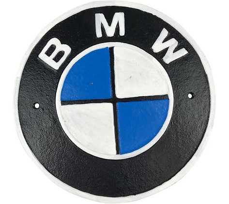 BMW Cast Iron Plaque