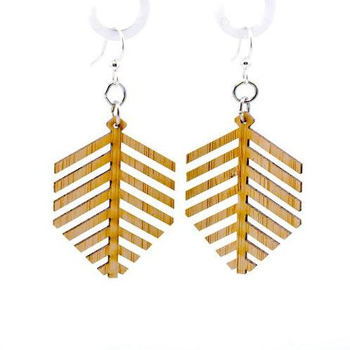 Modern Leaf Bamboo Earrings