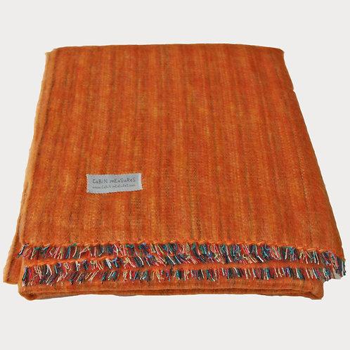 100% Alpaca Full Blanket in Papaya