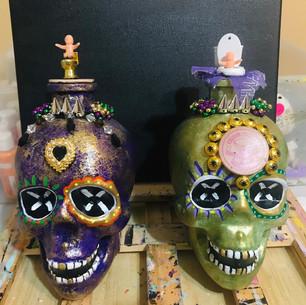 Krewe of Tucks skulls