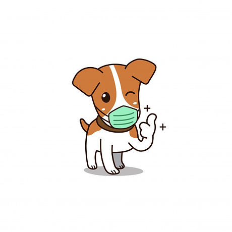 vector-cartoon-cute-dog-wearing-hygienic