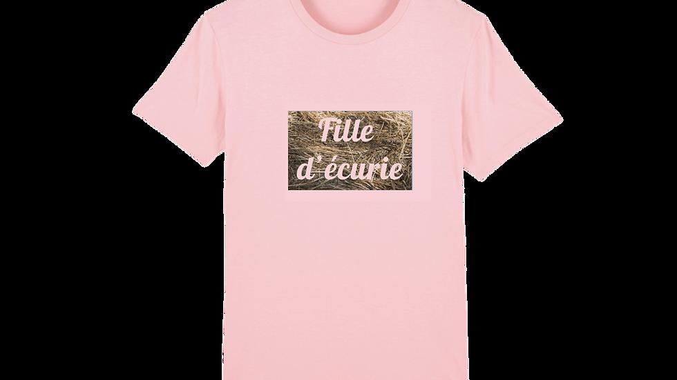 """T-shirt collection équine """"fille d'écurie"""""""