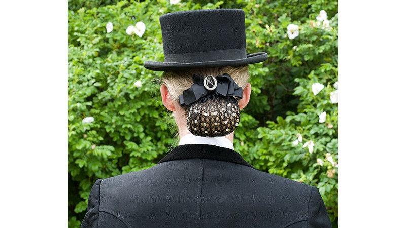 Résille cheveux avec pierres et broche