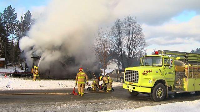 Un incendie détruit une maison