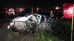 Violente collision à East Broughton