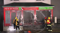 Incendie du restaurant Joannina à Be