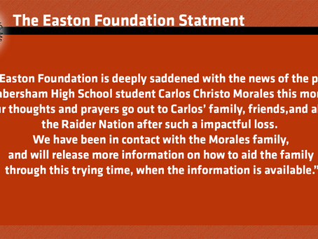 Easton Foundation Statement on the passing of Carlos Morales