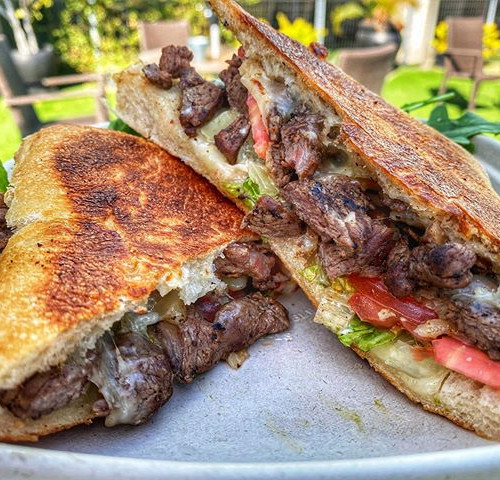 this Steak Panini is like a high five fo
