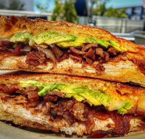 This Turkey bacon avocado panini is what