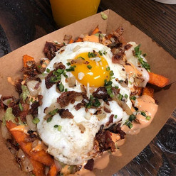 Off the menu special!  Sweet potatoes wi