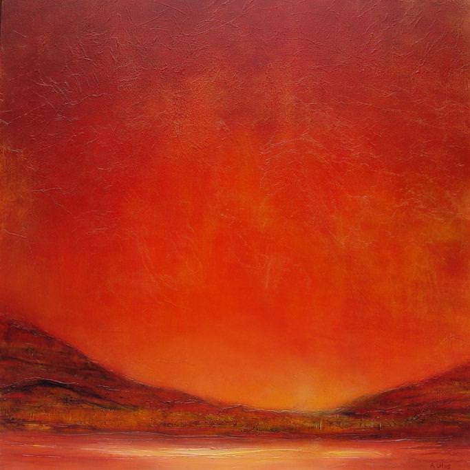 Red Sky Lament 36 x 36""