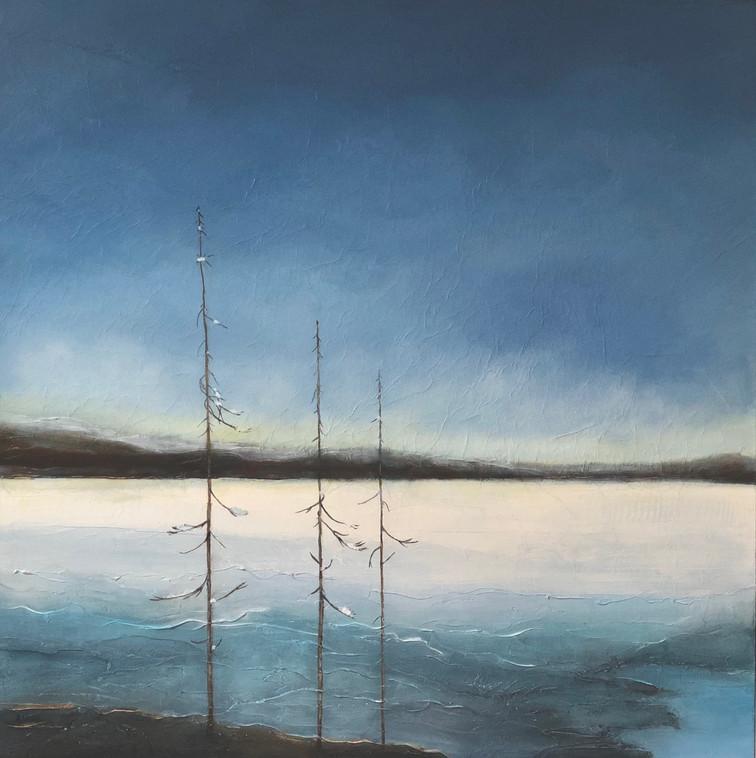 "Ottawa River in Winter  36 x 36"""