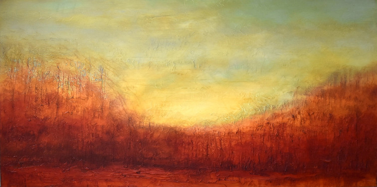"""Morning at Forest Edge 30 x 60"""""""