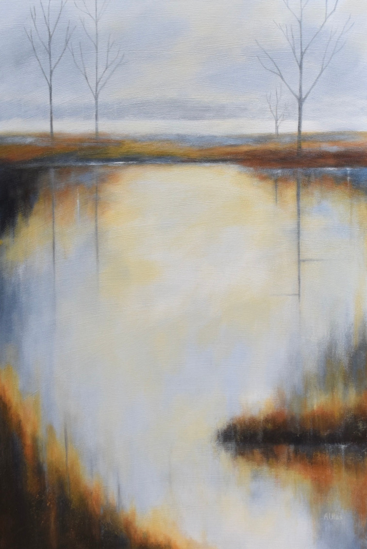 """Early Morning Reflections 24"""" x 36"""""""