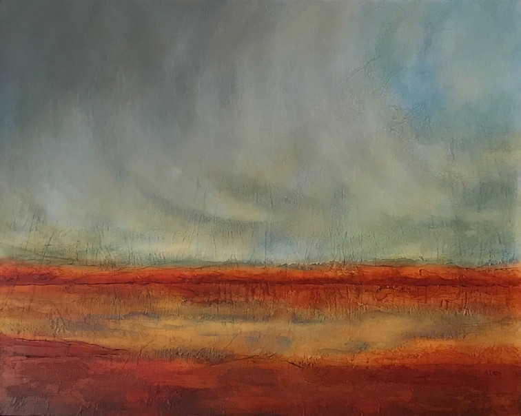"""There Shall Come Soft Rains 32 x 40"""""""