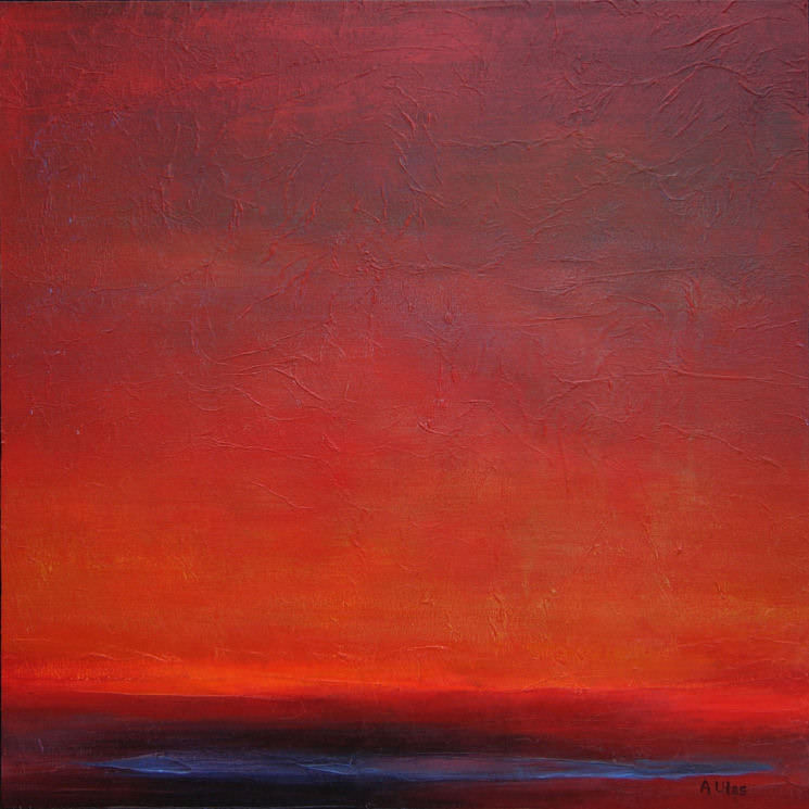 "In the Glow 30 x 30"" - sold"